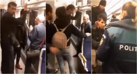 """Un tren întreg de călători, terorizat de trei imigranți. Au vrut să-i jefuiască și i-au amenințat cu moartea până și pe controlori: """"I-au făcut semn că-i taie gâtul""""- Video"""
