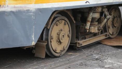 Tramvai deraiat în București, marți seară! Circulația pe linia 41 a fost oprită!