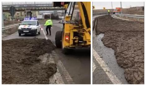 """Autostrada A4, umplută de bălegar! """"Imaginea neglijenței maxime și lipsei de respect pentru ceilalți participanți la trafic!"""" – VIDEO"""