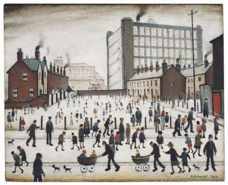 Tabloul lui LS Lowry necunoscut mai bine de şapte decenii, vândut pentru 2,65 milioane de lire sterline