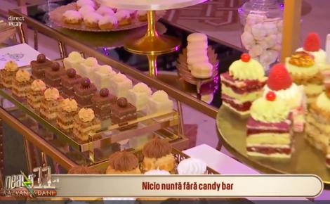 Candy bar - Cel mai în vogă tred  în privința nunților din  anul 2020. Restaurantele  se vor întrece în a-i impresiona pe nuntași cu diverse feluri de candy bar