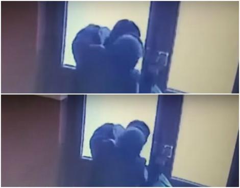 Scene șocante într-o scară de bloc din România, filmate de o cameră de supraveghere! Ce a făcut o femeie de 78 de ani este de necrezut! VIDEO
