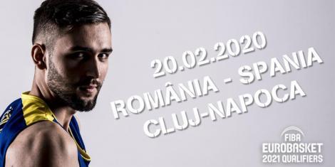 Bilete cu preţuri între 10-25 de lei la meciul de baschet cu campioana mondială Spania, în preliminariile EuroBasket 2021