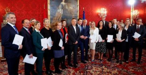 Guvernul lui Sebastian Kurz şi al Verzilor, instalat la putere în Austria