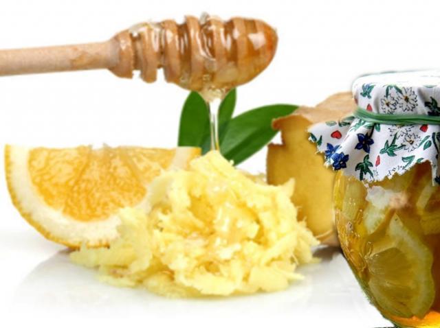 Amestec de ghimbir cu miere și lămâie