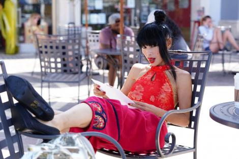 Bai Ling, imagine de la filmări
