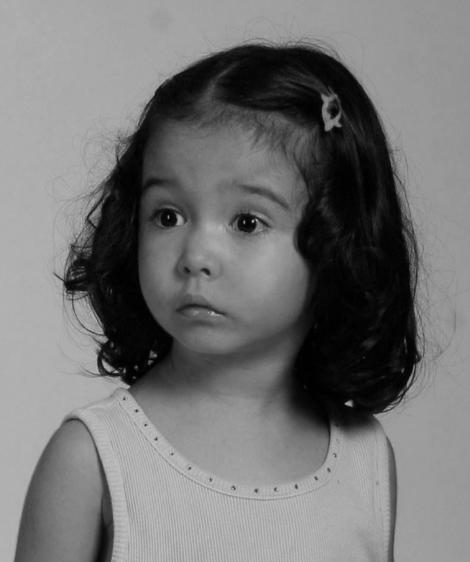 Ianca, fiica lui Razvan Simion, fotografie din copilarie