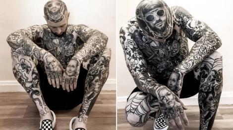 Karac Wilson are 39 de ani, este tatăl a patru copii, si are corpul plin de tatuaje