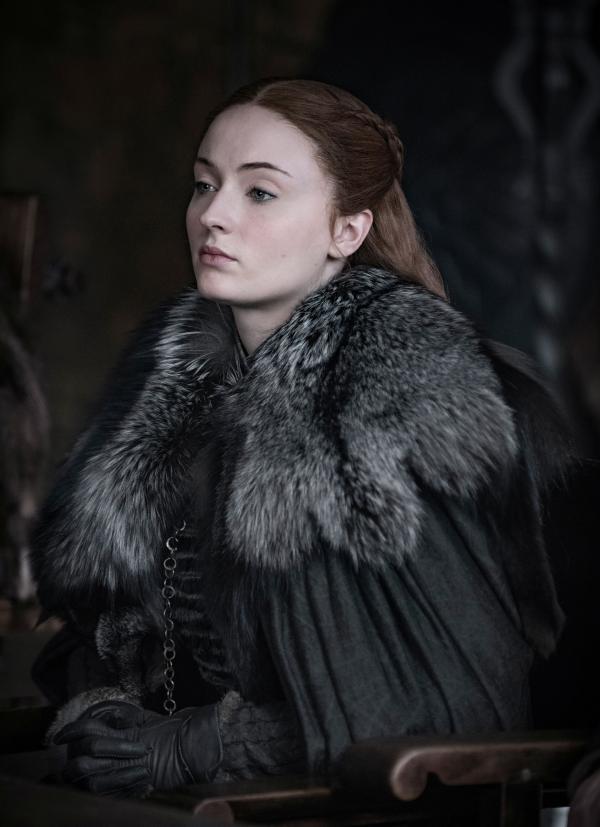 """Sophie Turner, în rolul personajului Sansa Stark, din serialul """"Game of Thrones"""""""
