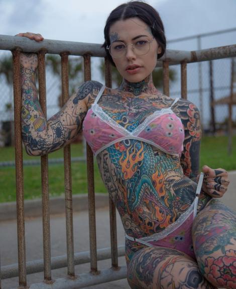 Tigerlilly Shelton, femeia plină de tatuaje