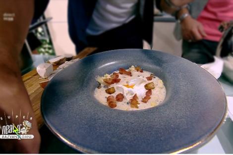 Rețeta zilei. Nicolai Tand gătește Spumă de hribi cu mămăligă