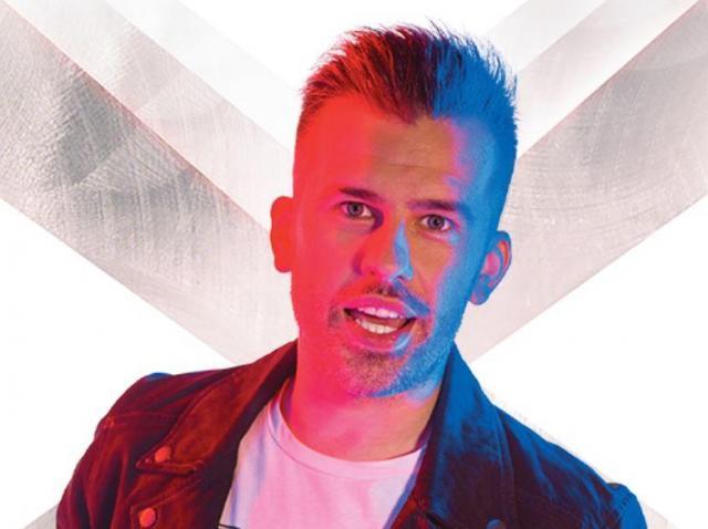 Florin Ristei, la filmările pentru promo-ul sezonului 9 X Factor
