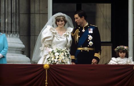 Printul Charles si Diana, sotia sa, in ziua nuntii lor