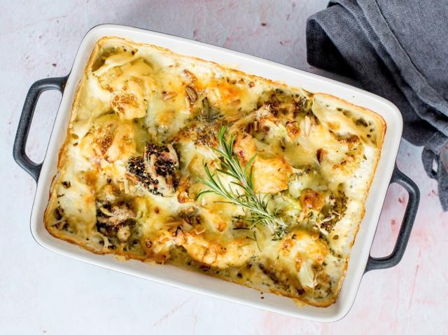 Conopidă cu brânză și smântână