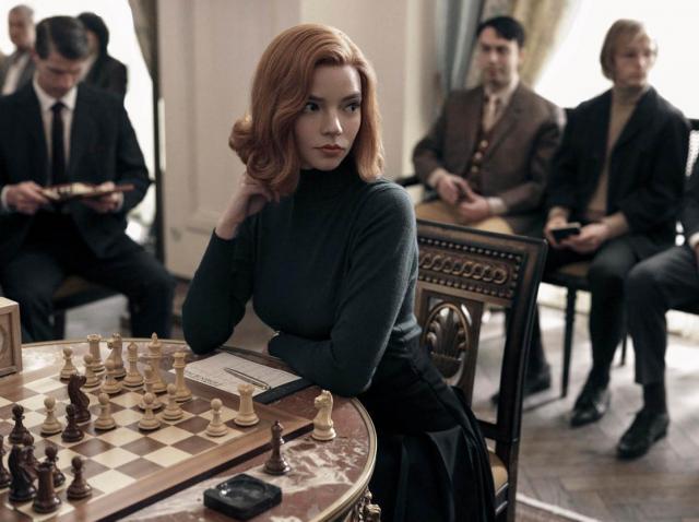 Anya Taylor Joy, in timpul filmarilor la The Queens Gambit