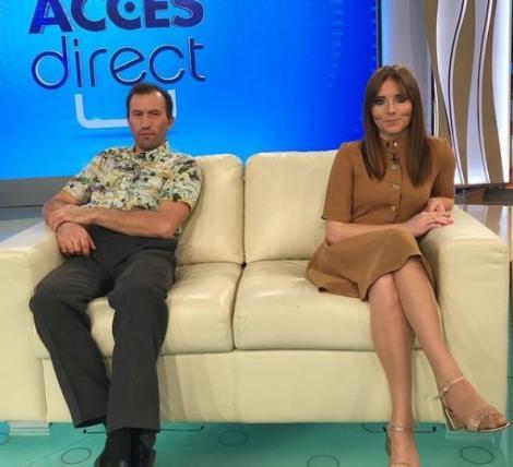 Veronica Stegaru, alături de soțul ei, în platorul emisiunii Acces Direct