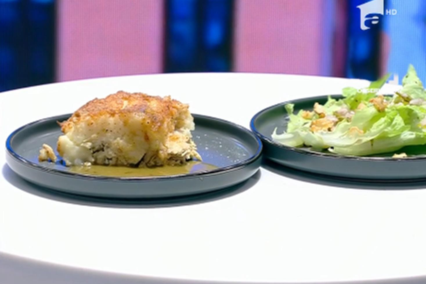 Rețetă de pui la rotisor și tartă de cartofi cu pui, preparată de Nicolai Tand la neatza cu Răzvan și Dani