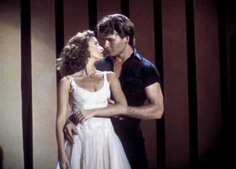 "Jennifer Gray și Patrick Swayze în filmul ""Dirty Dancing"""