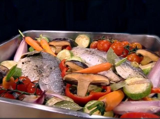 Pește dorada cu legume