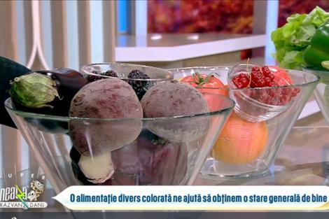 exemple de fructe și legume colorate