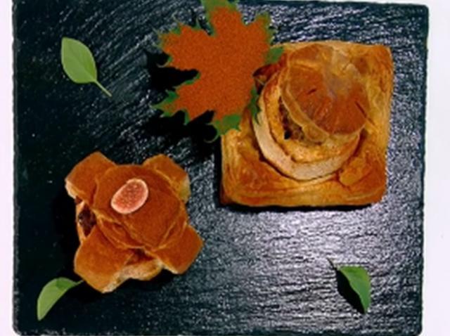 Aperitiv din mere cu carne și foietaj