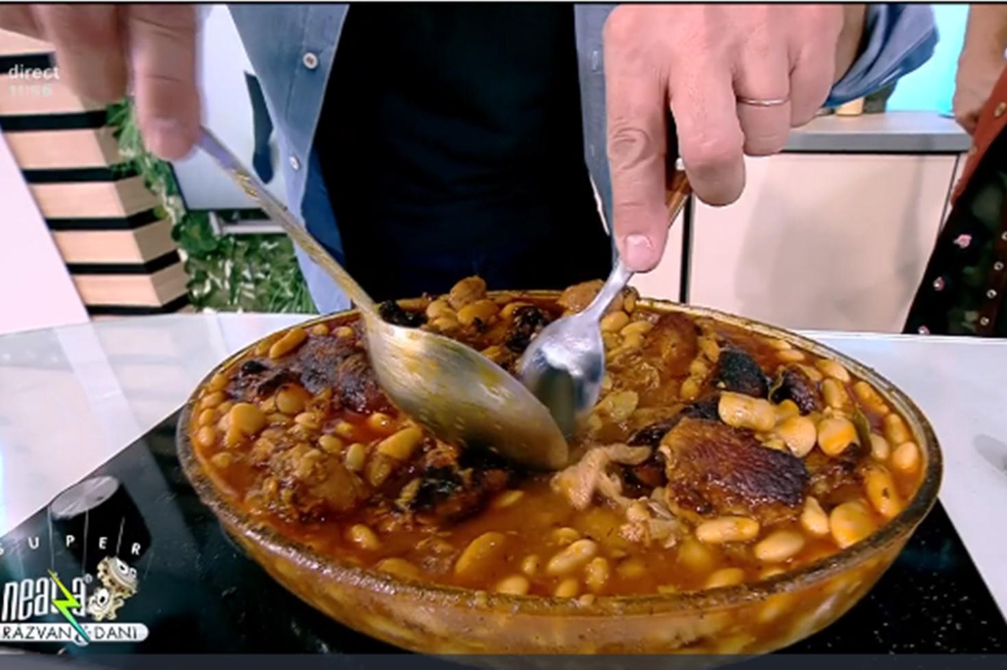 Rețetă de iahnie de fasole cu carne de porc, preparată de chef Nicolai Tand la Neatza cu Răzvan și Dani