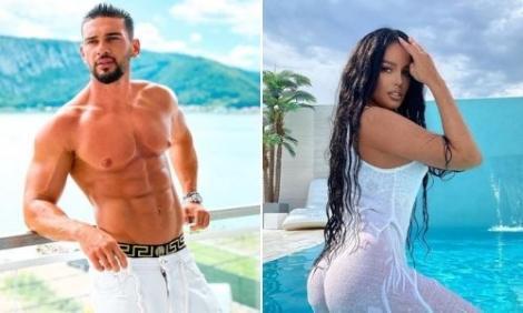 Dorian si Babs, iubita lui, în cele mai sexy ipostaze. Ea este in piscina cu o rochie alba-transparenta, iar el la bustul gol