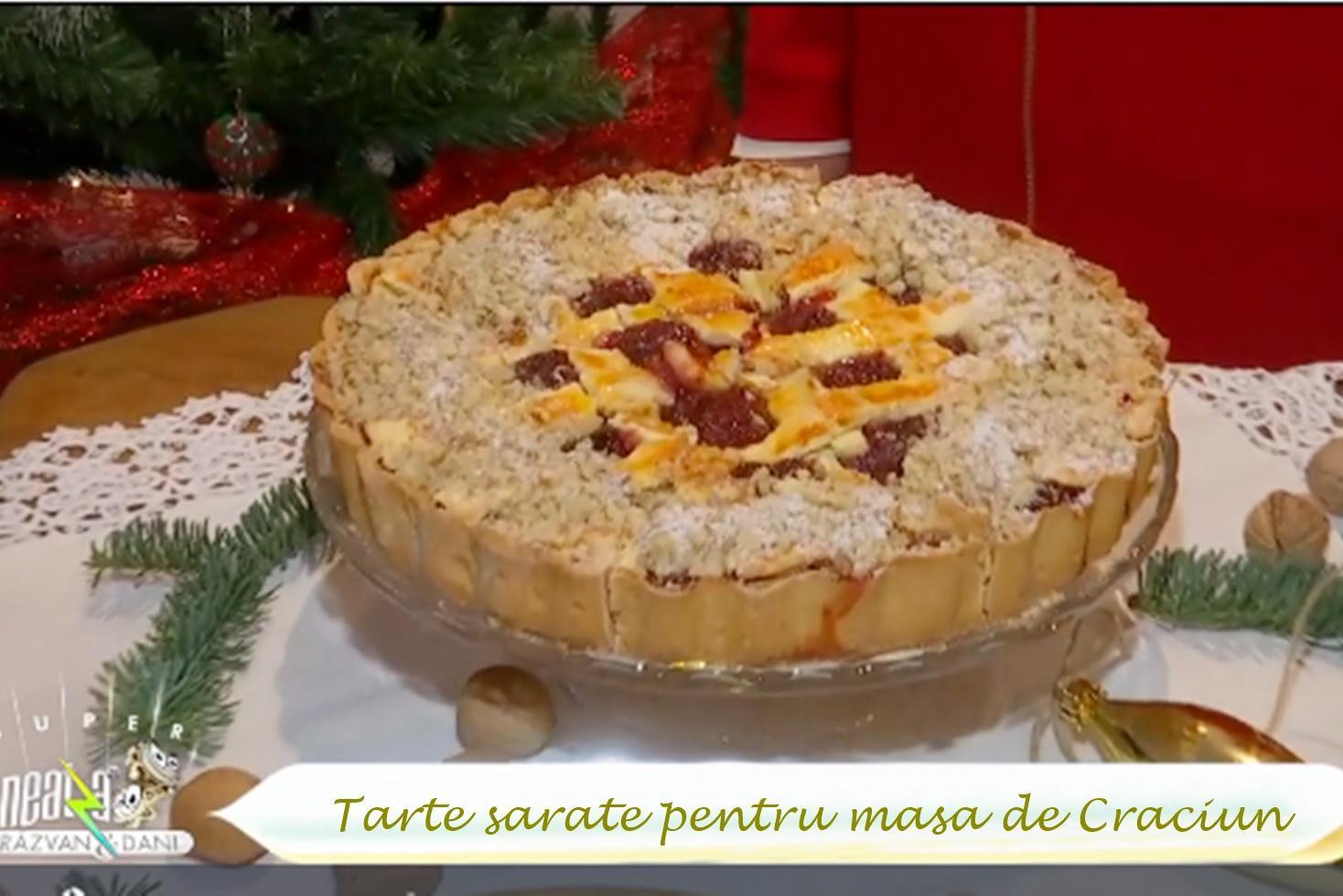 Idei de tarte sărate pentru masa de Crăciun