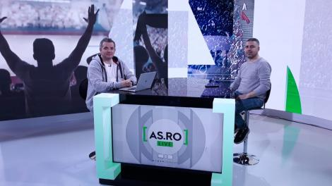 Catalin Oprisan si invitatul sau, in timpul emisiunii AS.ro live