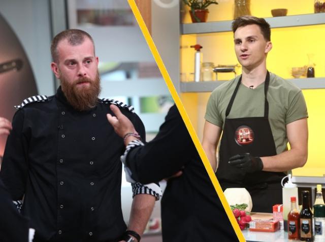 """Cristian Boca și Silviu Costan (Foca) de la """"Chefi la cuțite"""""""