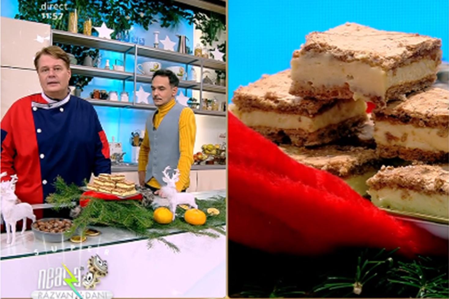 Prăjitura Esterhazy. Rețetă de prăjitură festivă, preparată de Vlăduț la Neatza cu Răzvan și Dani