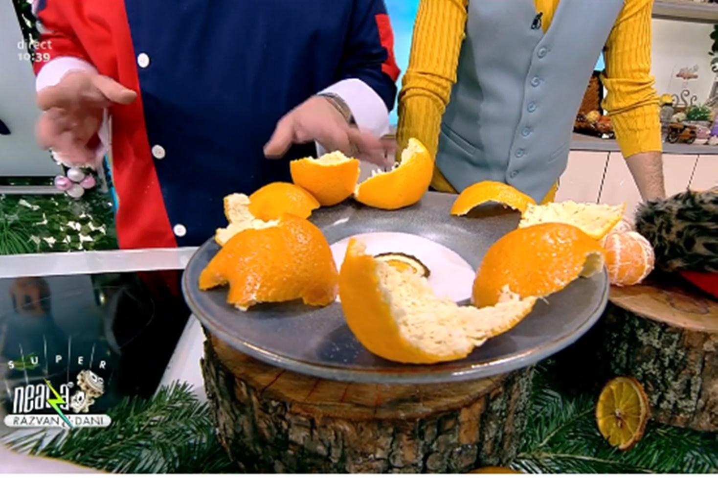 Cum se confiază corect coaja de portocală. Sfaturi utile de la Vlădutz, bucătarul de la Neatza cu Răzvan și Dani
