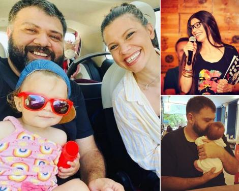 Laura Andresan, Grasu XXL si fetita lor, intr-un colaj, după ce cuplul s-a despartit