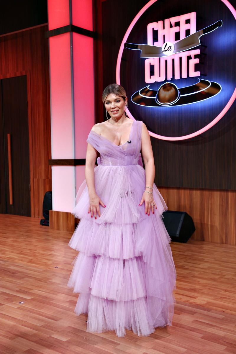 """Gina Pistol și-a făcut apariția într-o rochie de prințesă, în semifinala """"Chefi la cuțite"""" 2020"""