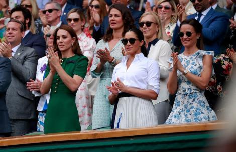 Pippa, Kate Middleton și Meghan Markle la Wimbledon