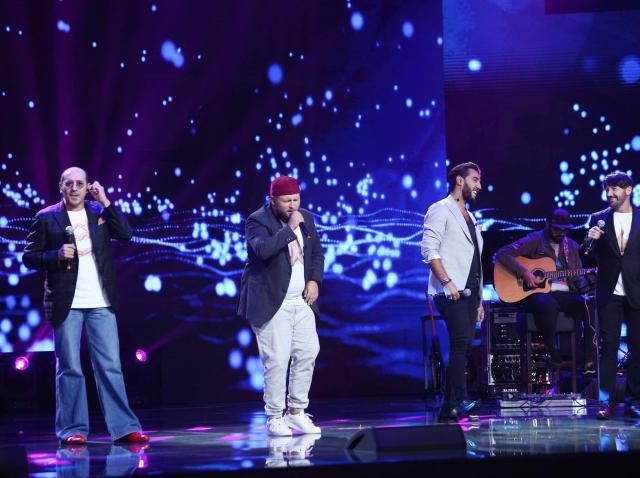 Gregorio Rega, Francesco Boccia, Salvatore Lampitelli Sabba și Aurelio Fierro Jr pe scena X Factor 2020