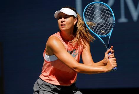 Maria Sharapova la antrenament