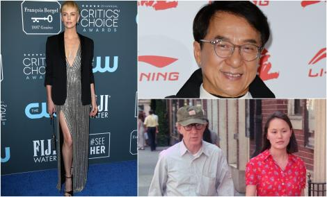 Ce vedete de la Hollywood ascund secrete grave, colaj cu Charlize Theron, Jackie Chan si Woody Allen
