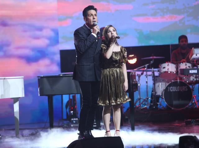Stefan Banica si Andrada Precup pe scena X Factor
