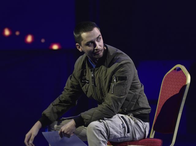 Mădălin Ghioc a venit pe scenă cu un număr spectaculos, care a surprins jurații