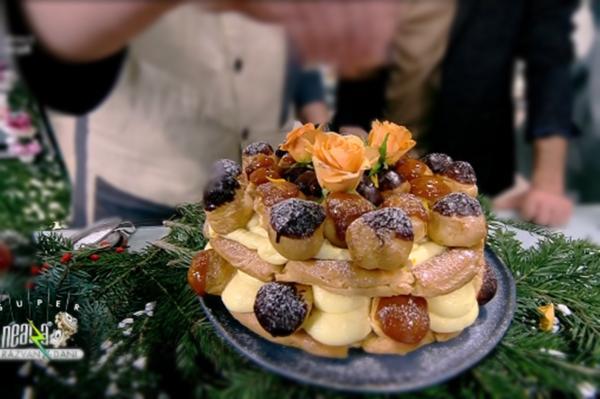 Tort ecler cu cremă de vanilie și caramel