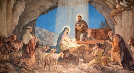 Imagine cu nasterea lui Iisus