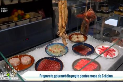 Preparate gourmet pentru masa de Crăciun pe bază de pește