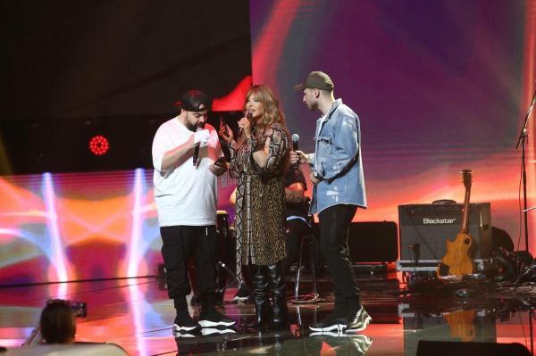 Florin Salam, împreună cu nepotul său și cu Loredana Groza, pe scena X Factor 2020
