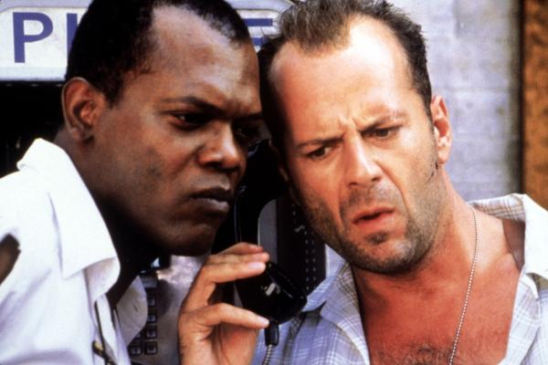 Bruce Willis și Samuel L. Jackson în ''Die Hard With a Vengeance''