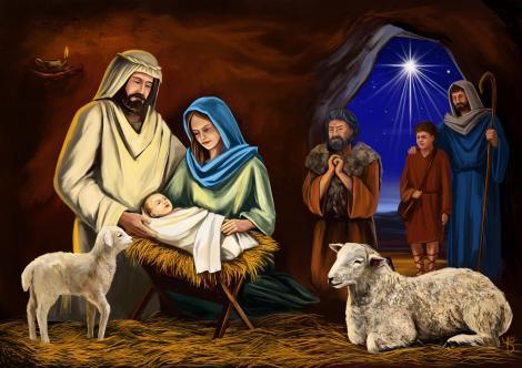 Scena nativitatii, nastere Iisus Hristos