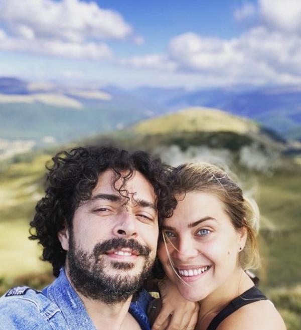 Marius Moga și soția sa
