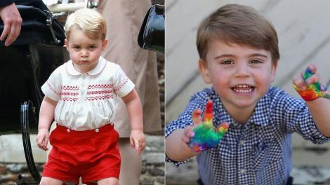 Printii George si Louis, colaj de fotografii cu micutii familie de Cambridge