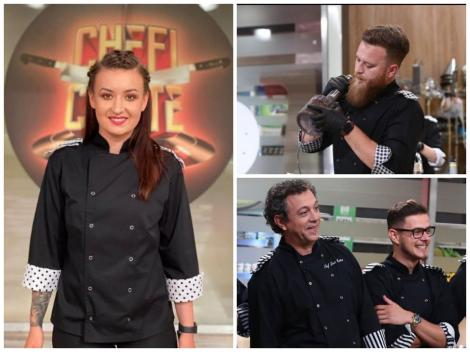 Colaj cu Roxana Blenche, Robert Vasiliu, Ionuț Belei și Sorin Bontea, în platoul emisiunii Chefi la cuțite