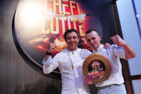 Cristi Șerb, alături de chef Bontea, în anul 2016